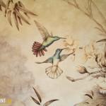 """Роспись """"Колибри и цветы"""""""