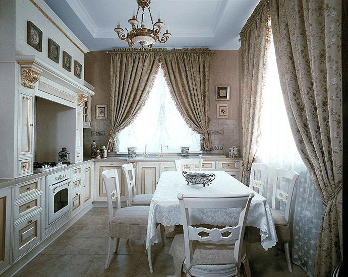 Шторы на кухню короткие элитные шторы