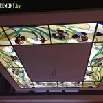 Витраж в потолке с подсветкой