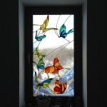 """Витраж в окне """"Бабочки"""""""