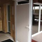 Изготовление плиссе на двери ПВХ