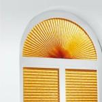 Плиссе на арочном окне
